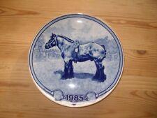 Toll gestalteter Sammelteller Pferde Pferd 1985 Belgier von Tove Svendsen