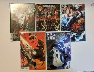 King in Black Complete Set 1-5 Variants Marvel Cates Stegman Venom
