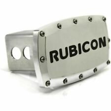 """Jeep Rubicon 2"""" Tow Hitch Cover Plug Engraved Billet Aluminum"""