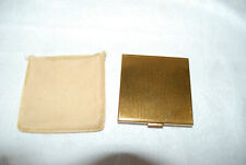 VINTAGE DUNHILL CLEARVIEW WINDSHIELD WIPER COMPACT GOLD COLORED W/ POWDER PUFF