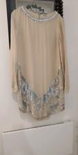 Haute Hippie sequined long sleeve silk dress size L
