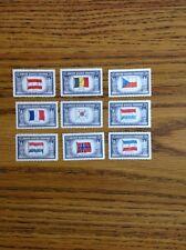 U.S. Postage 5 Cent Stamps Of Austria, Belgium, France, Korea, Etc.
