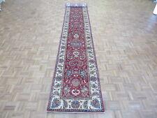 2'9 X 19'10 Runner Hand Knotted Tribal Red Super Kazak Oriental Rug G5660