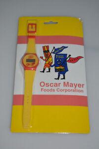 RARE Vintage Oscar Mayer Foods Wienermobile Promotional Digital Watch Carded MOC