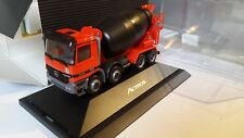 herpa Actros--BETONMISCHER--RED neutral MERCEDES BENZ-EXCLUSIV--in PC Vitrine