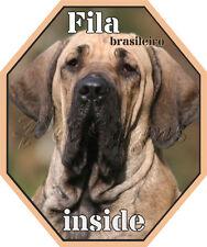 Autoaufkleber Fila Brasileiro - Auto Sticker - Foliensticker - Hundeaufkleber