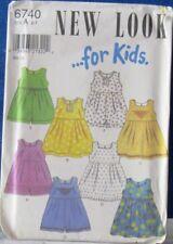 NEW LOOK by SIMPLICITY Kids Pattern #6740 Cute SUNDRESS & Romper Sz A 2-7