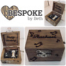 Personalised Retro Vintage Engraved Wooden Hand Crank Music Box Birthday Gift
