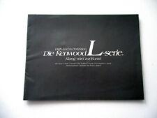 Kenwood L-Serie Katalog Prospekt 1990 Hifi Stereo Technik Broschüre HI-FI 90er
