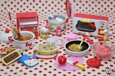Re-ment Sanrio Dollhouse Hello Kitty Miniature I love Cooking kitchen Set of 8