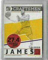 2019-20 Donruss LeBron James Craftsmen Insert Card SP Los Angeles Lakers