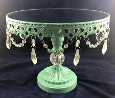 NEW Tiffany Blue Opulent Treasures Beaded Mirror 12 x 10 Round Cake Stand