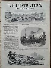 L'ILLUSTRATION 1844 N 88  L'INCEDIE DE PERA -VUE DE LA VILLE DE DELLYS (Algérie)