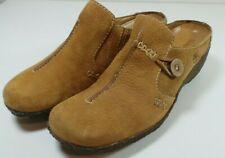 Timberland Women's Tan Leather Mules Clogs Slip On Shoes Size 8M Wedge