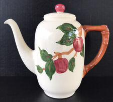 Vintage Franciscan Apple Tall Coffee Pot Tv Screen Back Stamp California USA