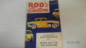 1956 JANUARY ROD & CUSTOM MAGAZINE.#1..BUILDING THE MERCEDEUCE