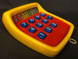 1975 Mattel Tuff Stuff Calculator Pull Cord String Number Action Vintage Kid Toy