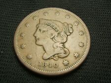 1840 Braided Hair Large cent each additional coin ships  for free !!!!!!!