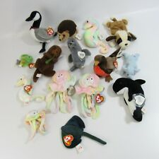 New ListingTy Beanie Babies Lot 15 Plush Stuffed Animals Collection Bean Bag Dolls Goochy