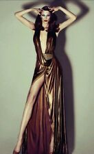 GUCCI RUNWAY AMAZING GOLD OPEN BACK GOWN DRESS IT40