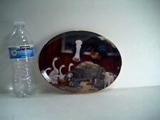 Franklin Mint Barnyard Gathering Porcelain Plate