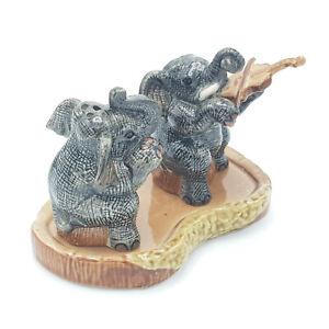 Elephant Playing Violin Salt & Pepper Shakers - Ceramic