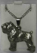 Bouvier des Flandres Dog Harris Fine Pewter Pendant w Chain Necklace Usa Made