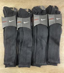 Nike Dri Fit Knee High Baseball League Level Black Socks Lot of 8 Pairs