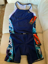 Tyr Women's Tri Tankini Top & Shorts Size Xl Blueberry Jungle Nwt