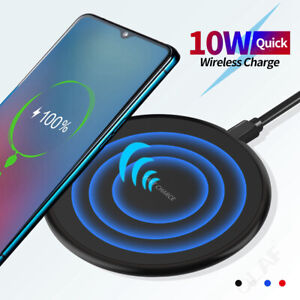 10W Fast Charging Qi Wireless Charger Pad Dock for iPhone 11 Pro XS Max Samsung