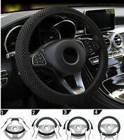 15'' 38cm Auto Car Steering Wheel Cover Sleeve Breathable Soft Non-slip Grip NEW