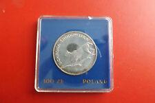 Nur 20000Ex.!Polen 100 zl. 1979 Silber PP *Tierschutz /Luchs