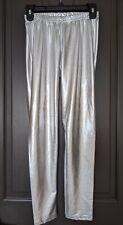 NWOT Wet Seal Silver Shiny Metallic Stretchy Leggings Pants Medium