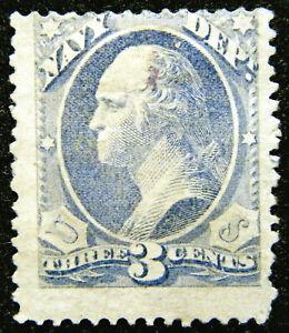 US Official Stamp 1873 3c Navy Scott # O37 Mint OG H
