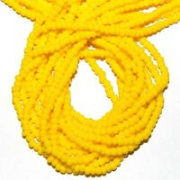 SB460 Yellow Opaque 11/0 2mm Jablonex Traditional Czech Glass Seed Bead Hank