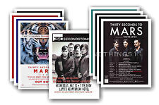 30 SECONDS TO MARS  - 10 promotional posters - collectable postcard set # 1