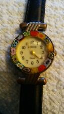 Ladies Original Murano Glass Watch Venice Italy Gold Tone