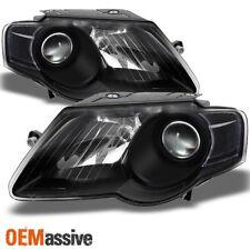 06-10 Volkswagen Passat Black Bezel Projector Headlights Headlamps Left Right
