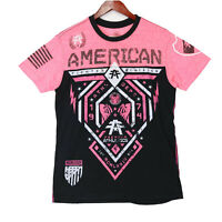 American Fighter Women's Pink MMA Fighing T-shirt Top - Size Small