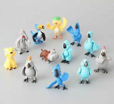 "Disney Rio Birds Set Of 12  2"" Birthday Cake Topper Figurines Toy Set"