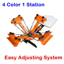 AU 4 Color Silk Screen Printing Machine With Easy Adjust System 1 Station
