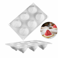 Christmas Hat Cake Moulds 6 Holes 3D Silicone Mold Dessert Pastry Baking Tools