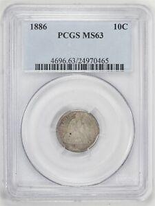 1886 Seated Liberty Dime PCGS MS 63 JO/1173