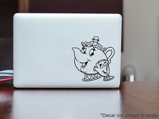 Disney Beauty and the Beast Chip Cup & Mrs Potts Mac Laptop Vinyl Decal Sticker