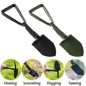 Military Folding Camping Shovel Digging Entrenching Tool Garden Shovel w/ Cover