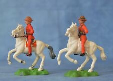 2 x 1/32 (54 / 60 mm) Crescent Royal Canadian Mounted Policemen (RCMP) @ 1960