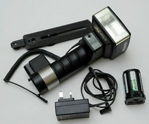 METZ 45 CL-4 Handle Flash with bracket, sync lead, charger, pack - 100% Good