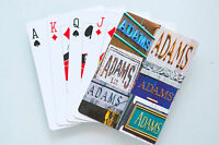 Personalized Playing Cards featuring ADAMS in photos of actual signs