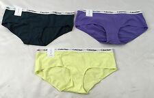 Calvin Klein WOMEN'S 3-Piece Set Hipster Underwear Panties Purple Yellow M
