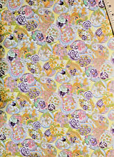 Spring Time Yellow Floral Eggs Fabric By Hoffman One Yard
